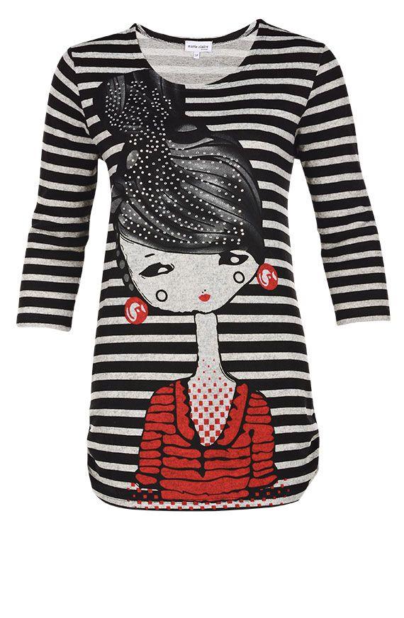 Tunique imprimée jersey brossé