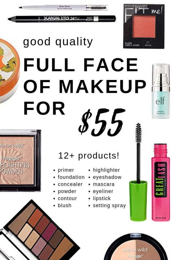 Cheapest Full Face Of Makeup Only 55 Beautybrainsblush Full Face Makeup Drugstore Makeup Makeup For Teens