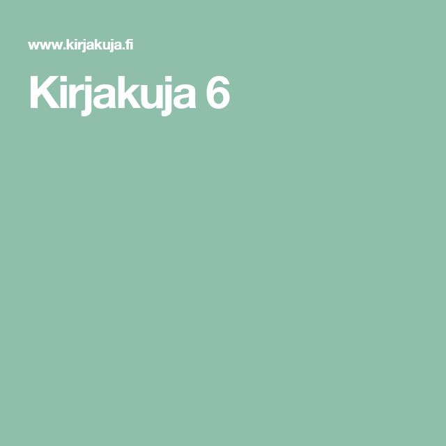 Kirjakuja 6