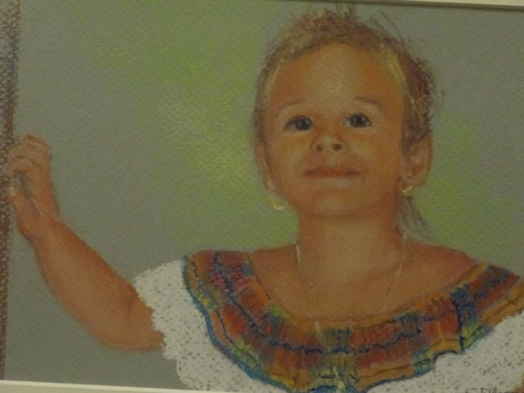 My beloved goddaughter at the age of 7...  #portrait #pastel #unique #restorativeportraits #family