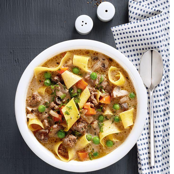 Soupe au boeuf stroganoff