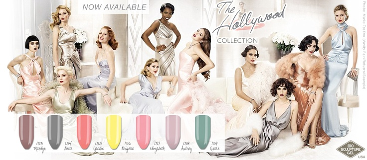 The Bio Sculpture Hollywood Collection is a fabulous collection of vintage pastel colors made popular during the 50's & 60's. The great thing about these colors is that you can color block, mix and match them, punk rock them, glam them up, whatever your imagination can create. They suit anyone!!!
