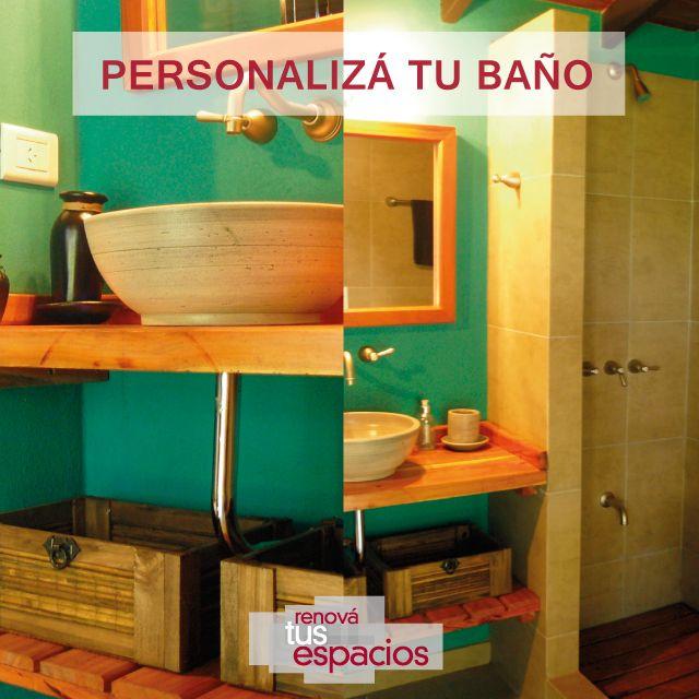 Combiná colores, personalizá tu baño. #DecoraciónIntegral #Reformas #Obras medianas y grandes #Casas #Deptos #Oficinas #Negocios Consultanos en www.renovatusespacios.com.ar o llamanos al 011 4897-5275