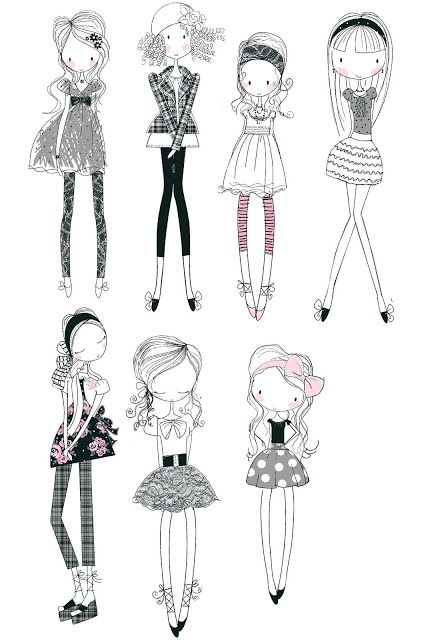 All about surface pattern ,textiles and graphics: Girly doodles