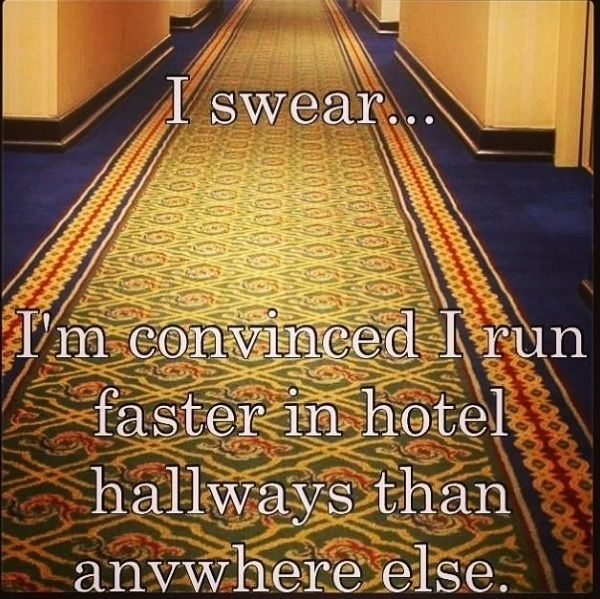I did this every time I was in a hotel when I was a kid.  If it wouldn't look so ridiculous, and creepy, I'd do it as an adult.