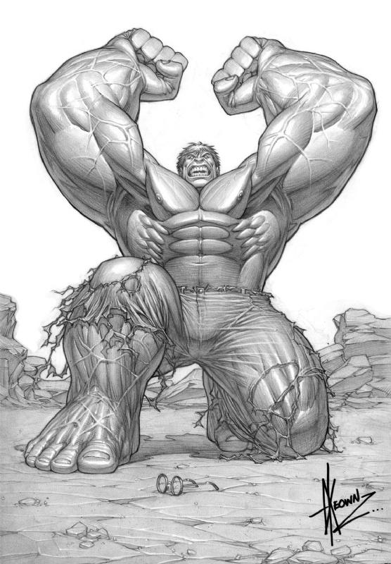 Incredible Hulk style guide by Dale Keown Comic Art