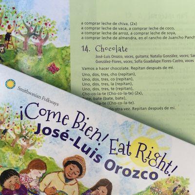 Spanish song lyrics make a fun reading activity for children.