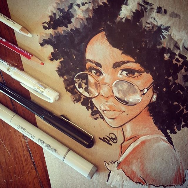 #inktober2016 #inksketch #portraitdrawing #portraitsketch #afro #curlyhair #portrait #sketchdook #dook day 11 of #inktober ... keep on keepin on!
