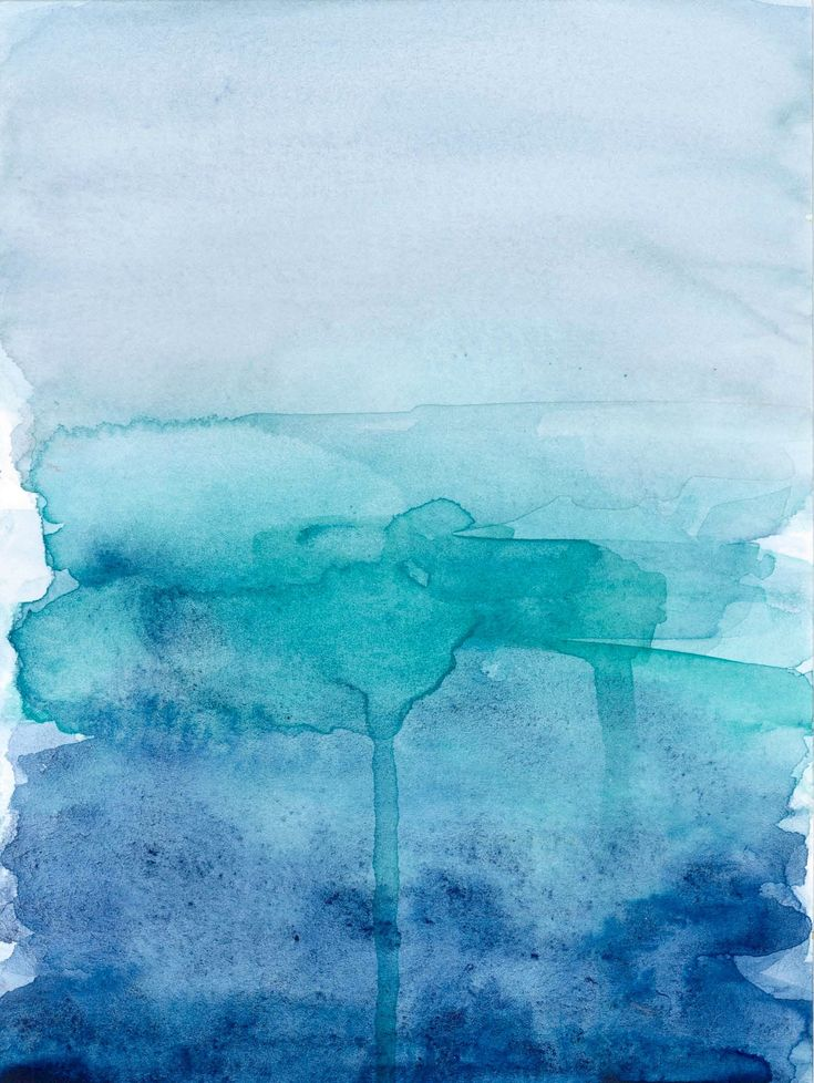 blue ombre watercolour