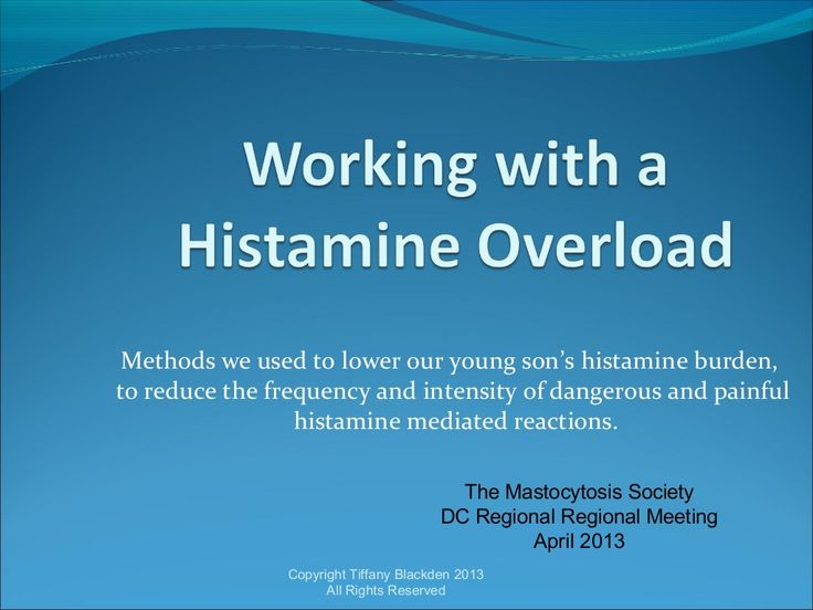 working-with-histamine-overload-april-2013-20158082 by Tiffany Blackden via Slideshare