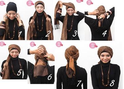Turban style hijab.