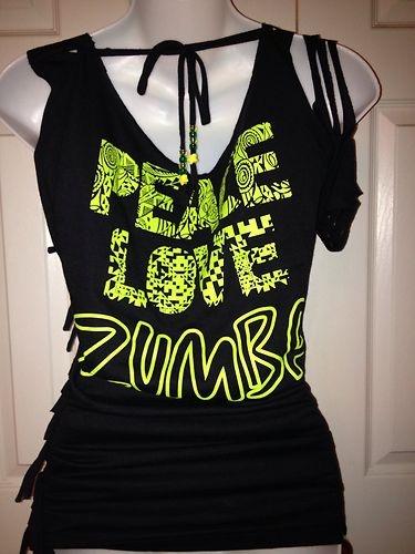 zumba peace love zumba t shirt customized black. Black Bedroom Furniture Sets. Home Design Ideas