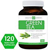Best Green Tea Extract (NON GMO) 120 Capsules With High Potency EGCG For Weight Loss & Metabolism Boost  Natural Diet Pills  Powerful Polyphenol Catechins Antioxidant Supplement