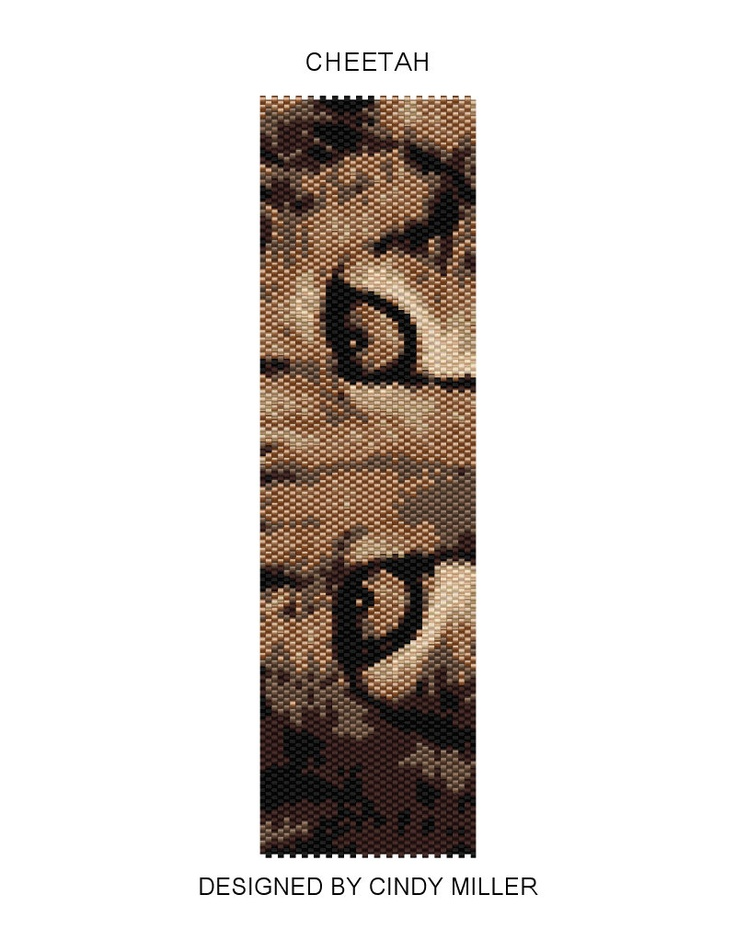 Cheetah Peyote Bracelet Pattern ((Buy 2 Patterns Get 1 Free)). $6.50, via Etsy.