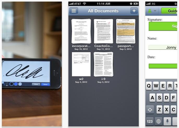 Aplicaciones gratis para firmar documentos en #iPhone y #iPad #apps