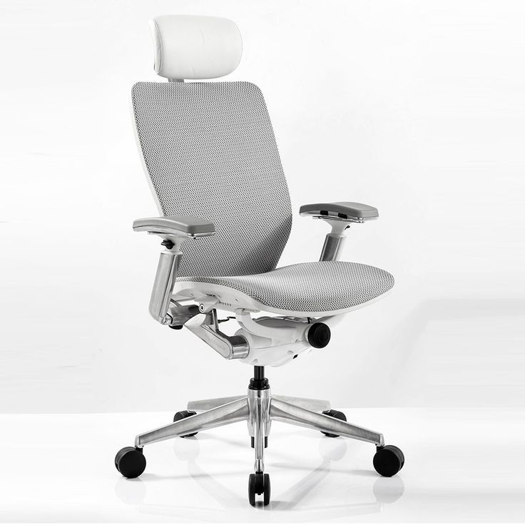High Back Mesh Ergonomic Computer Chair with White Frame