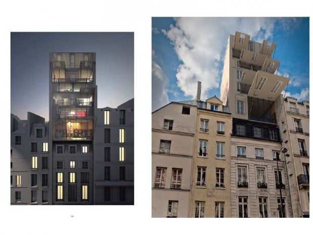 """Neossmann de Stéphane Malka    """"Face à la surdensification parisienne et au mal-logement, Néossmann est une proposition de surélévation urbaine vouée à réduire l'étalement urbain""""."""