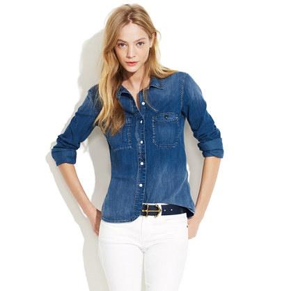 Madewell | Denim Boyshirt: Dream Closet, Madewell Denim, Denim Boyshirt, Denim Shirts, Denim Top, Boyshirt Madewell, White Jeans