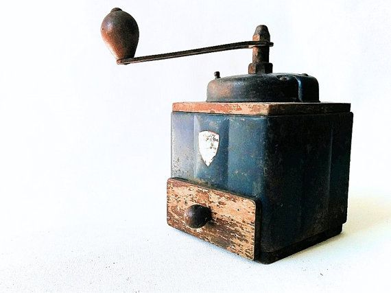 Antique Coffee Grinder Peugeot Freres Vintage French by Lunartics
