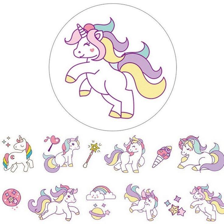 Washi Tape unicornios