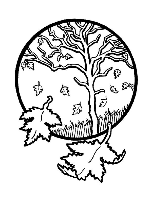 Autumn Tree Coloring Pages Coloring Coloring Pages