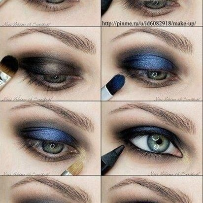 Blue Eye Makeup Tutorial - Click image to find more makeup posts