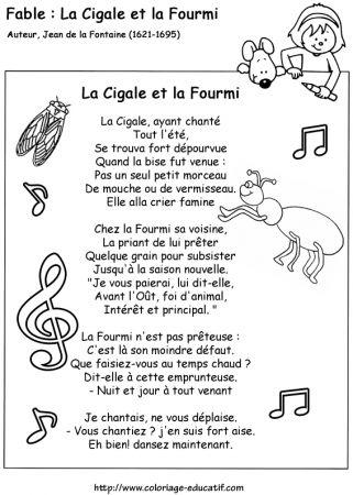 Les Fables de La Fontaine: La Cigale et la Fourmi.