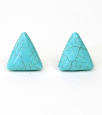These little turquoise triangle beauties are back! $12