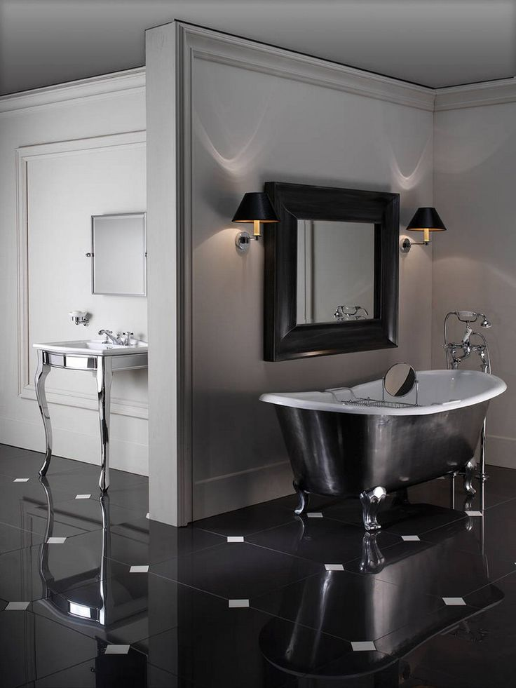 Les 25 meilleures id es de la cat gorie salle de bains avec baignoire pattes sur pinterest - Salle de bain avec bain sur pattes ...