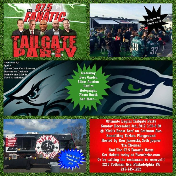 Don't forget this awesome event is right around the corner this Sunday! The ultimate Eagles tailgate will be hosted by 97.5 The Fanatic and Eagles greats Ron Jaworski Seth Joyner and Tra Thomas. #eagles #phillyfoodie #philadelphiaeagles #birdgang #eaglesnation #tarken #phillyfootball @locustlanecb @northeastfoodies #football  Get tickets today! https://www.eventbrite.com/e/fanatics-ultimate-eagles-tailgate-party-w-jaworski-and-joyner-nicks-rb-tickets-39915778167