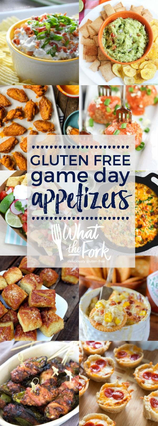 All the gluten free snacks and gluten free game day appetizers you need to get your party started!