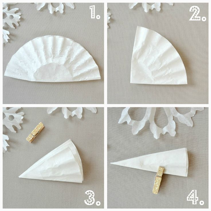 Holiday Snowflakes from -- you guessed it -- coffee filters! Great photo tutorial! - photo tutorial