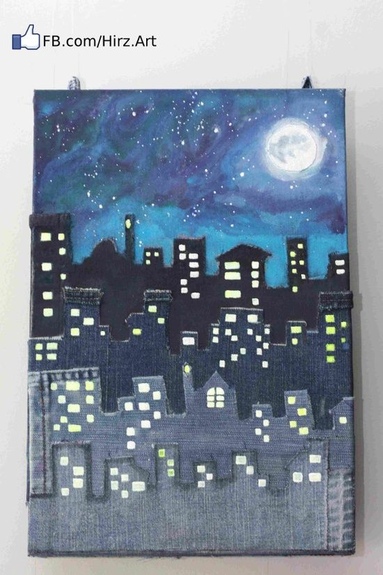 My first Jeans Canvas – A Beautiful Night in A Beautiful City (Amman in Jeans)