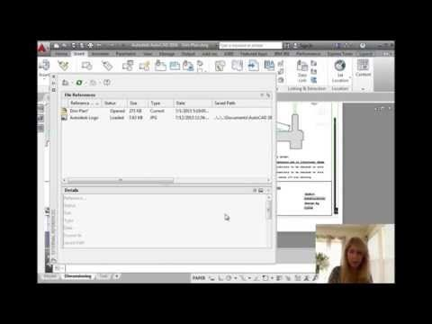 how to insert a pdf image into autocad