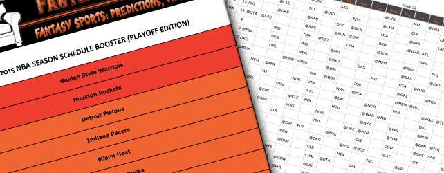 2014-2015 Fantasy Basketball Playoffs NBA Schedule Booster #NBA #NBAplayoffs #FantasyBasketball