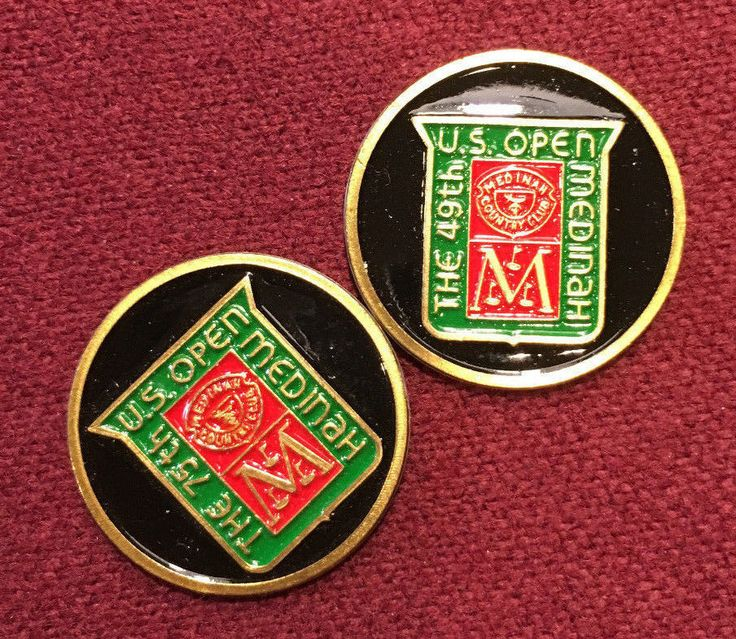 49th & 75th US Open Golf Ball Markers - Medinah Country Club 1949 & 1975