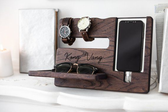 Shop valentines day Eco Wood desk Organizer. Personalized-gifts