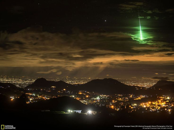 Serendipitous Green Meteor // Photo and caption by Prasenjeet Yadav