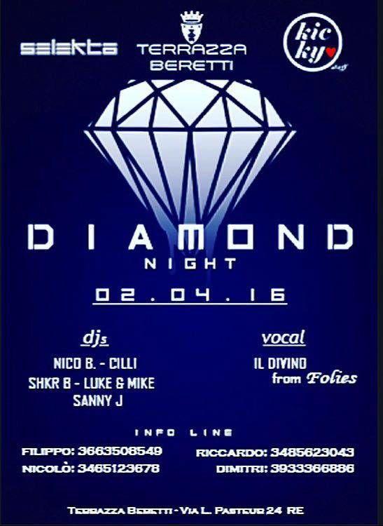 #diamondnight #selekta #kickystaff #diamondsstaff #dimitrimazzoni sabato 2 aprile 2016