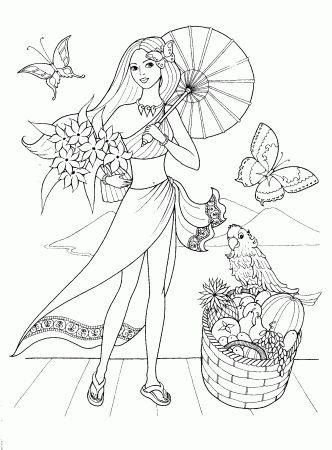 Детские раскраски для девочек - Принцессы