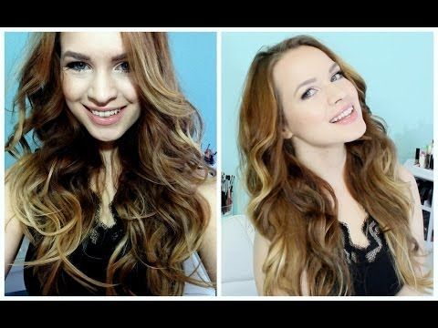 Victoria's Secret Curls Using a Flat Iron + a technique you've never seen before!! :D