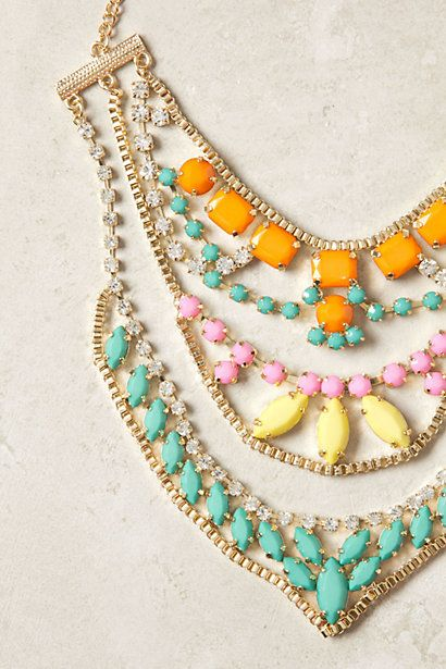 Sugar Coated Necklace - Anthropologie: Colors Combos, Coats Necklaces, Statement Necklaces, Anthropology Necklaces, Neck Candy, Layered Necklaces, Pastel Colors, Summer Colors, Sugar Coats