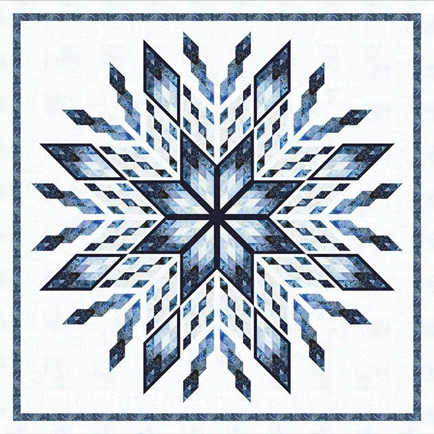 Ice Castles quilt pattern by Judy Niemeyer for Timeless Treasures Fabrics