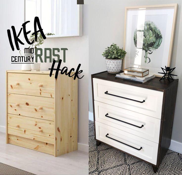 Mid Century Ikea Rast Dresser Hack Ikea Rast Dresser Ikea Rast