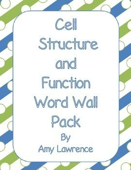 cell structure and function word wall vocabulary cards on cell wall function id=35584