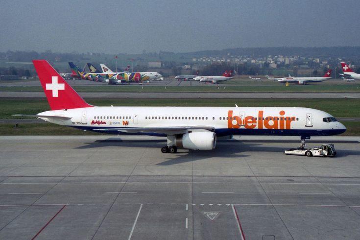 https://flic.kr/p/Gwotx3 | Belair Boeing 757-2G5 HB-IHS 'Horizonte' | Zürich (- Kloten) (ZRH / LSZH) Switzerland  3.2002