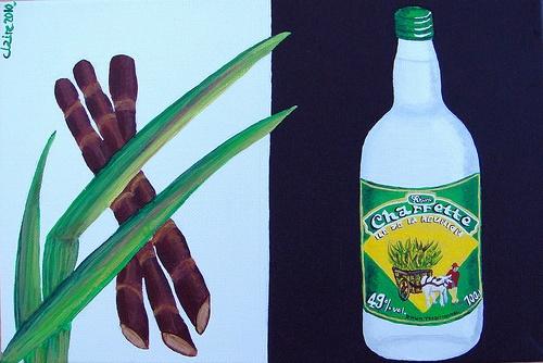 Food & Drink (rhum) painting / Food & Drink (le rhum le la!) - 22x33 cm (toile acrylique / Posca) ©Claire Pimenta de Miranda/Toilesurlatoile  https://www.facebook.com/photo.php?fbid=151929001491728=a.121728497845112.15874.121699184514710=3 www.toilesurlatoile.com #peinture #painting #toile #rhum #charette #canneasucre #sugarcane #alcool #drink #boisson #alcohol #bouteille #bottle