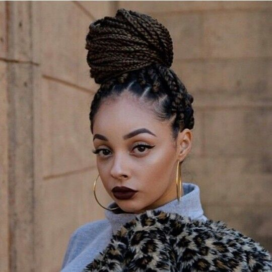 I like the color of her braids