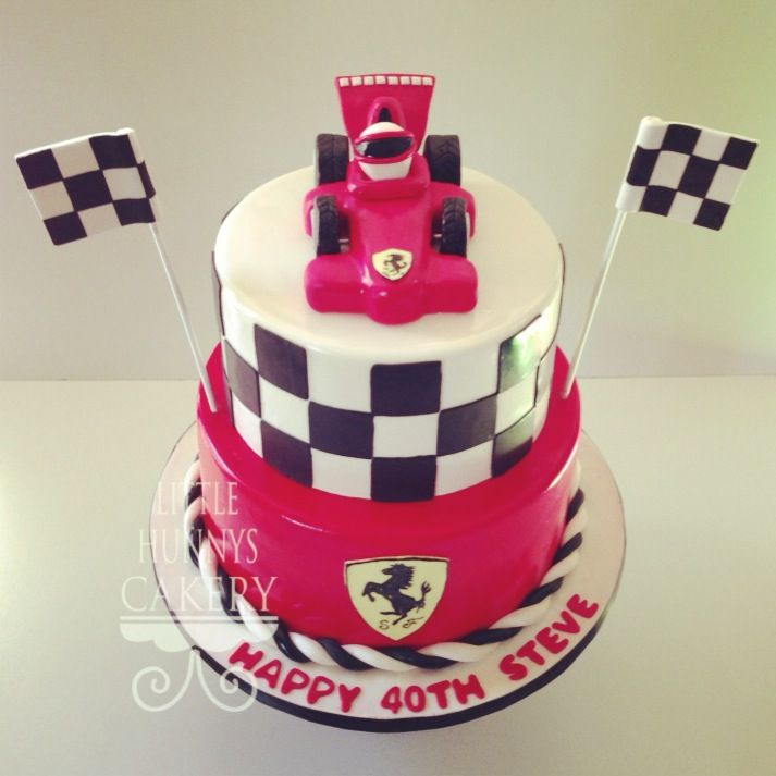 Formula one ferarri birthday cake