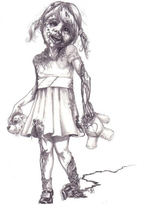 zombie girl drawing | ZOMBIE GIRL by James Garza | Zombie Research Society